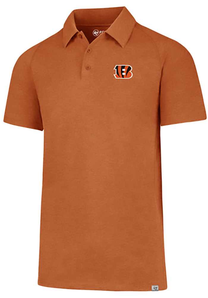 '47 Cincinnati Bengals Mens Orange Forward Gravity Short Sleeve Polo - Image 1
