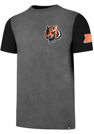 '47 Cincinnati Bengals Mens Grey Double Rundown Fashion Tee