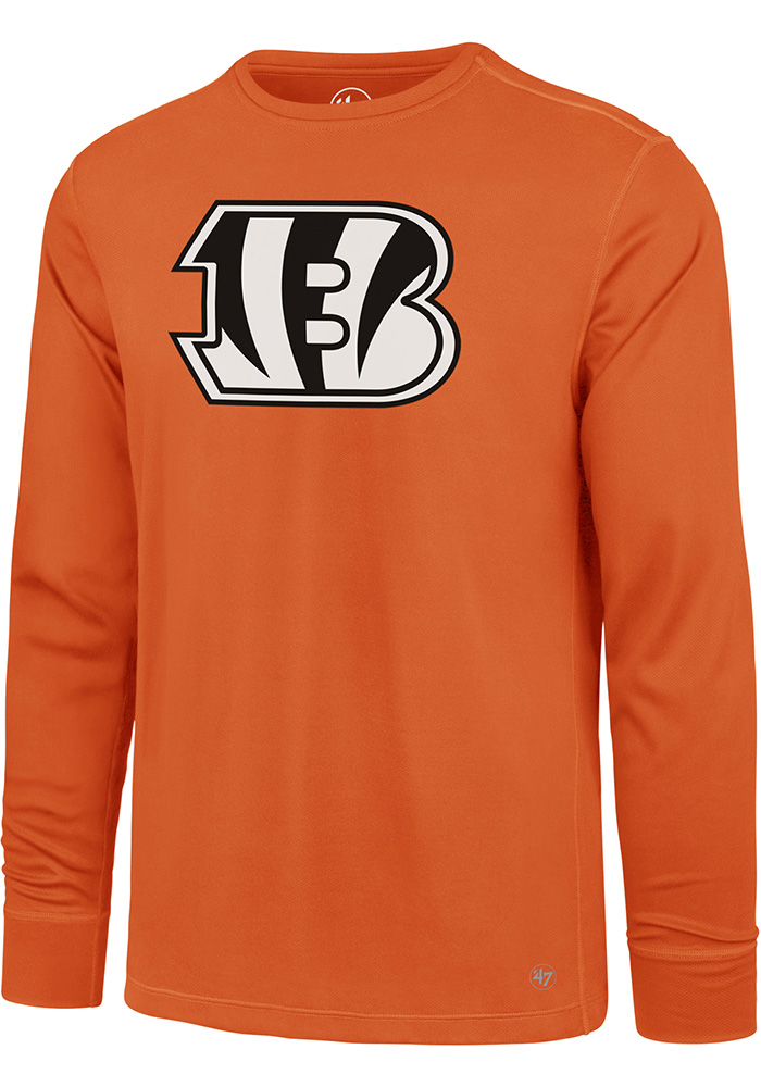 47 Cincinnati Bengals Orange Forward Microlite Long Sleeve T-Shirt - Image 1