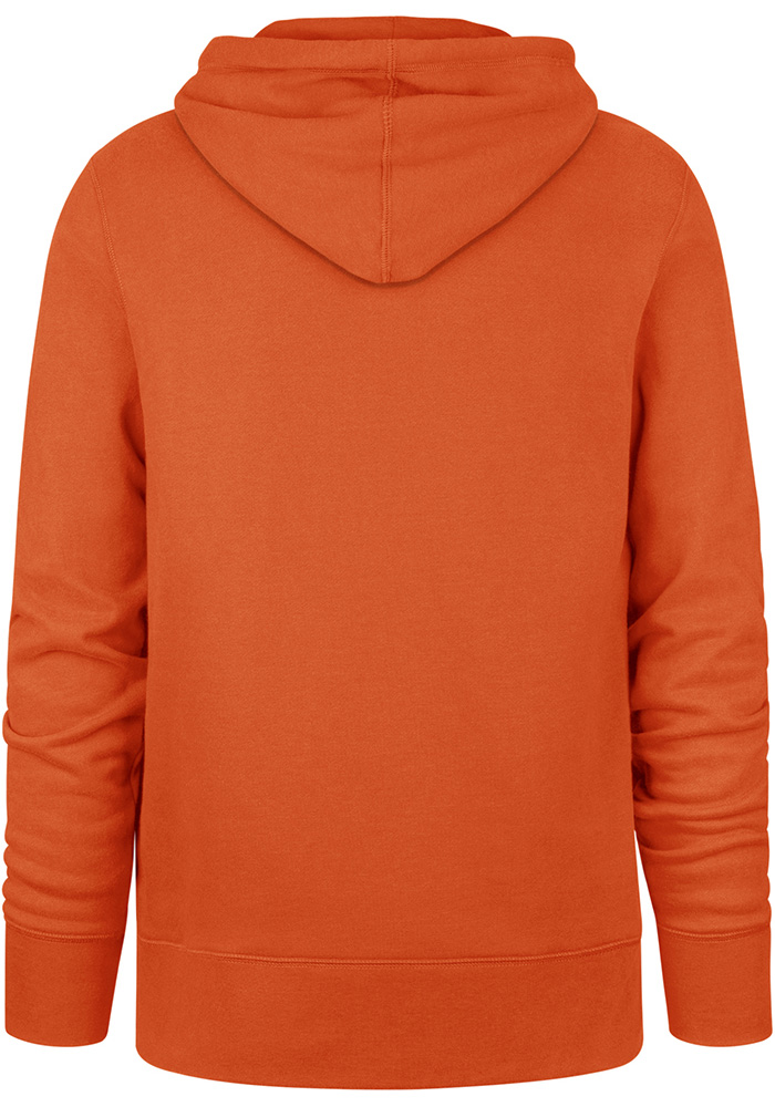 '47 Cincinnati Bengals Mens Orange Knockaround Headline Long Sleeve Hoodie - Image 2