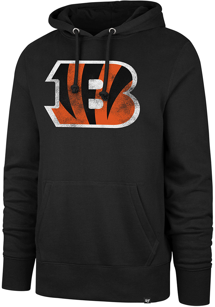'47 Cincinnati Bengals Mens Black Knockaround Headline Hoodie