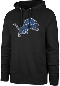 47 Detroit Lions Black Knockaround Headline Hoodie