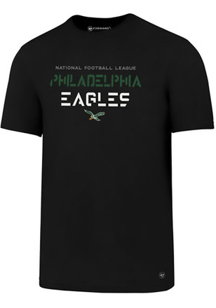 '47 Philadelphia Eagles Mens Black SS Athleisure Forward Sport Tee Tee
