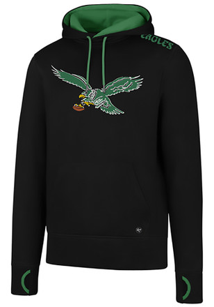 '47 Philadelphia Eagles Mens Black Forward Fleece Athleisure Hoodie