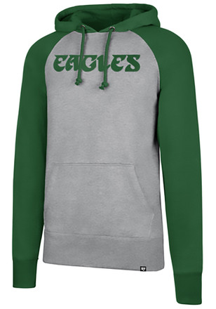 '47 Philadelphia Eagles Mens Raglan Sport Grey Fashion Hood