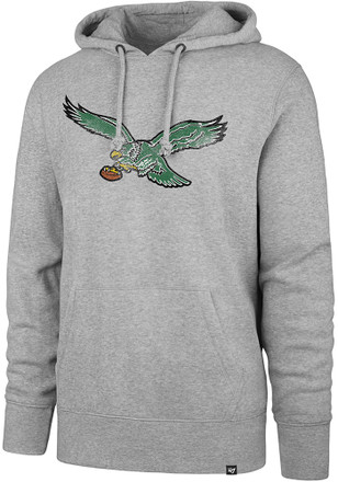 '47 Philadelphia Eagles Mens Grey Knockaround Headline Hoodie