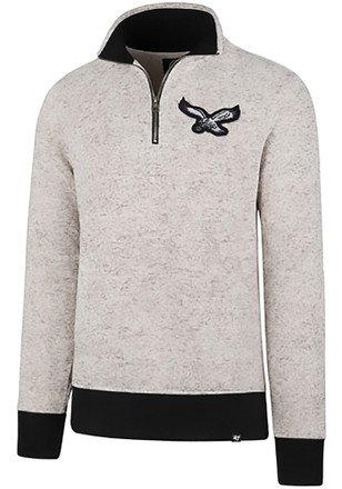 '47 Philadelphia Eagles Mens White Kodiak 1/4 Zip Fashion Pullover