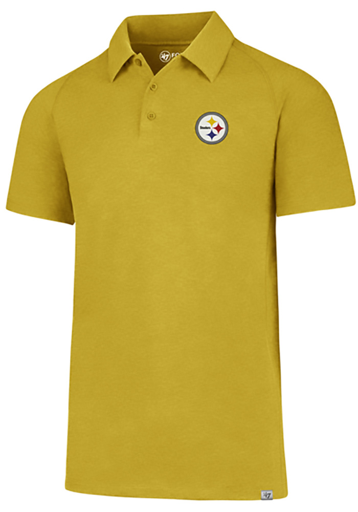 Pittsburgh Steelers 47 Forward Gravity Polo Shirt - Gold