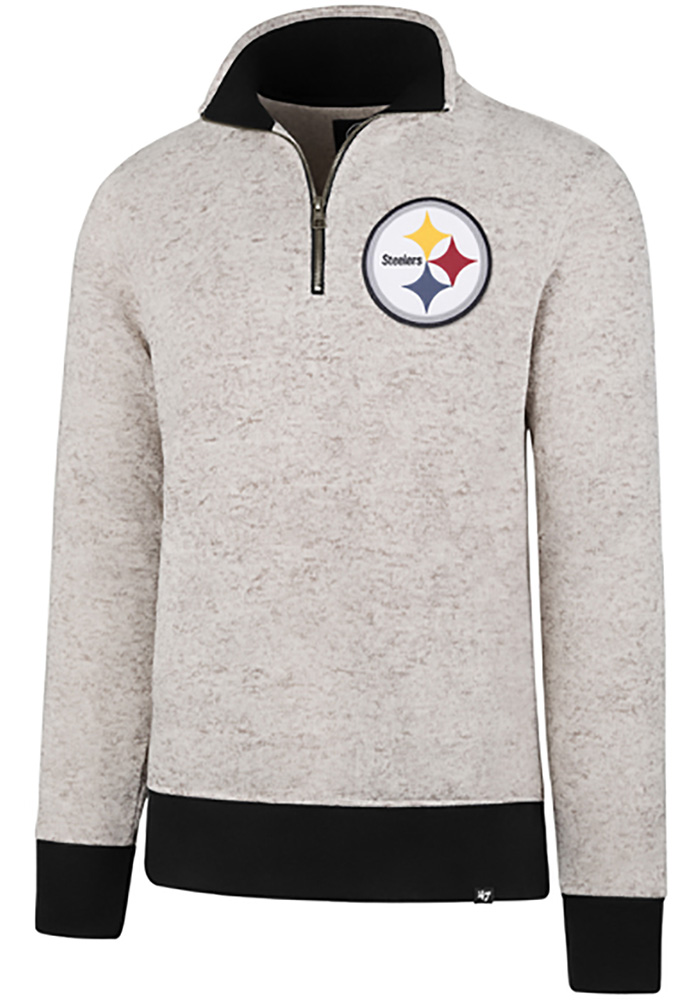 brand new ac21a cc746 '47 Pittsburgh Steelers Mens White Kodiak Long Sleeve 1/4 Zip Fashion  Pullover