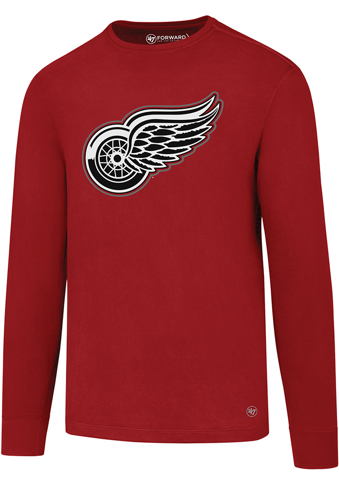 47 Detroit Red Wings Red Forward Microlite Long Sleeve T-Shirt - Image 1