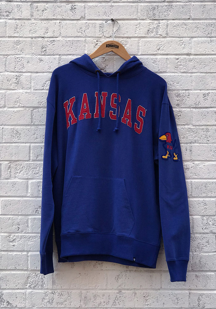 '47 Kansas Jayhawks Mens Blue Striker Fashion Hood - Image 1