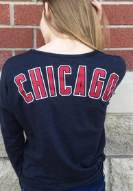 47 Chicago Cubs Womens Club Courtside Blue LS Tee