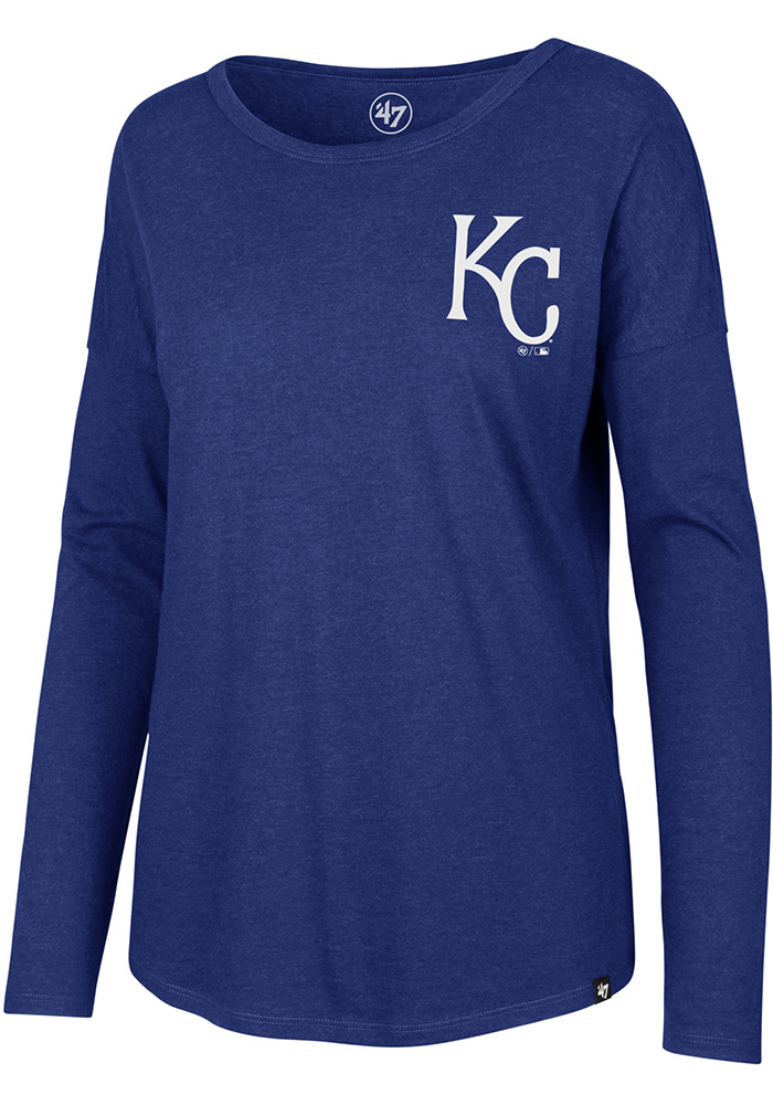 47 Kansas City Royals Womens Club Courtside Light Blue LS Tee