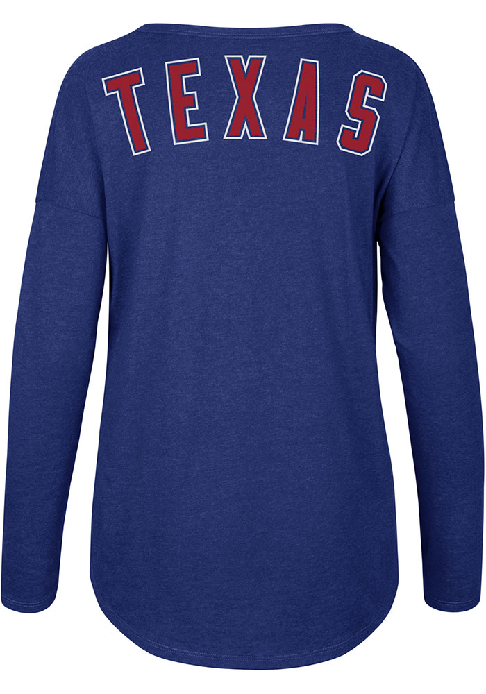 '47 Texas Rangers Womens Club Courtside Red LS Tee