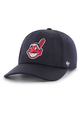 '47 Cleveland Indians Mens Navy Blue Three Point Clean Up Adjustable Hat
