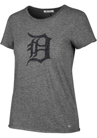 47 Detroit Tigers Womens Fader Letter Grey T-Shirt
