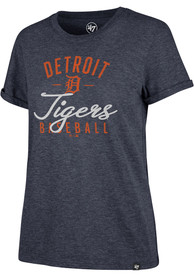 reputable site 69f87 ea351 '47 Detroit Tigers Womens Navy Blue Match Hero T-Shirt