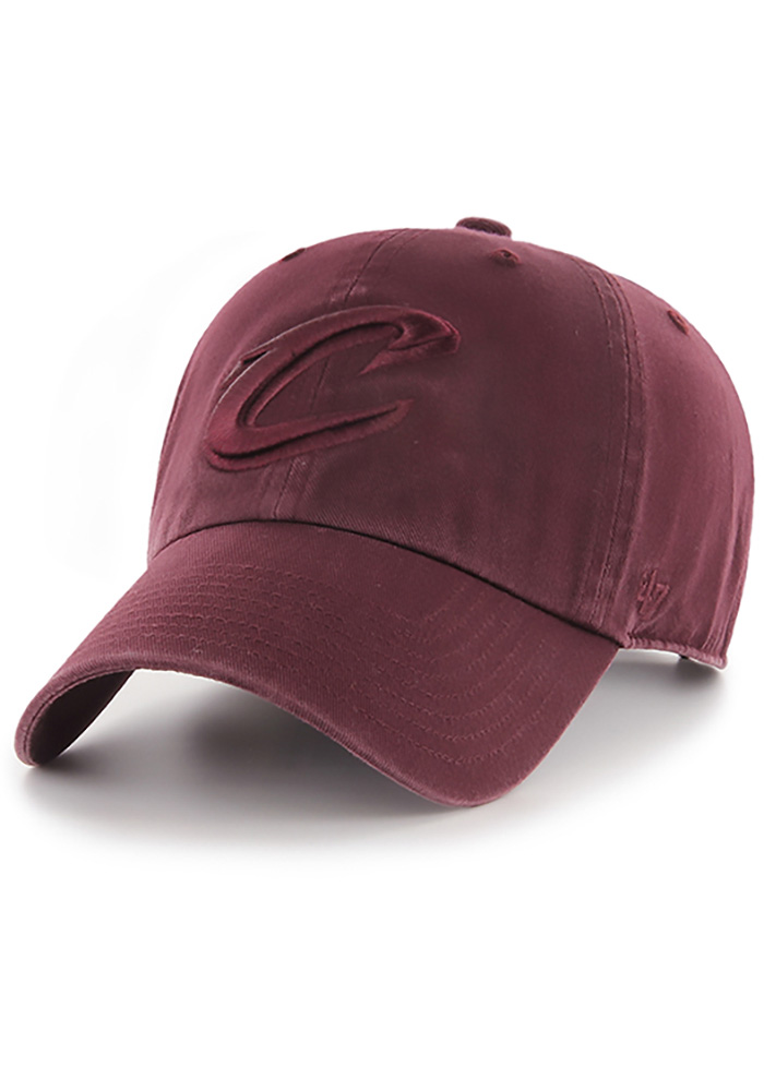 '47 Cleveland Cavaliers Mens Maroon Tonal Clean Up Adjustable Hat - Image 1