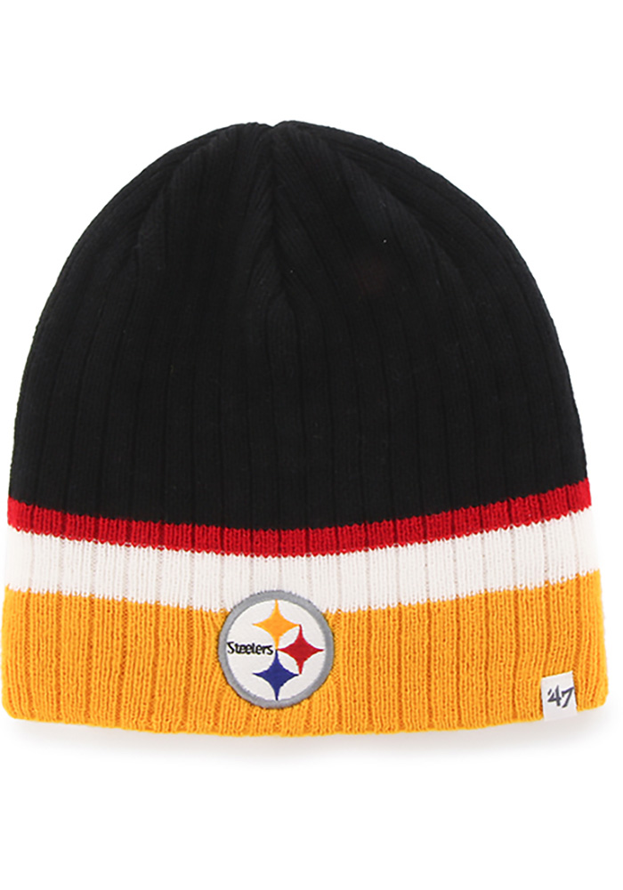47 Pittsburgh Steelers Black Buddy Youth Knit Hat - Image 1