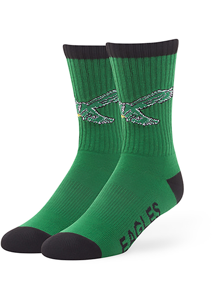 Philadelphia Eagles '47 Retro Bolt Mens Crew Socks - Image 1