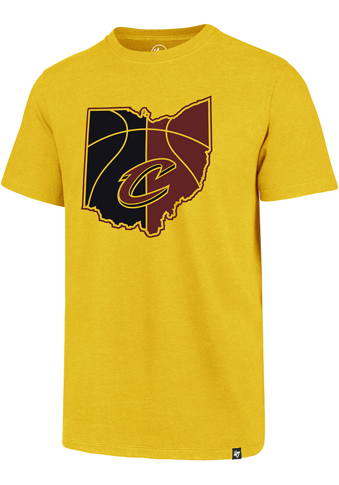 '47 Cleveland Cavaliers Mens Gold Regional Club Short Sleeve T Shirt - Image 1