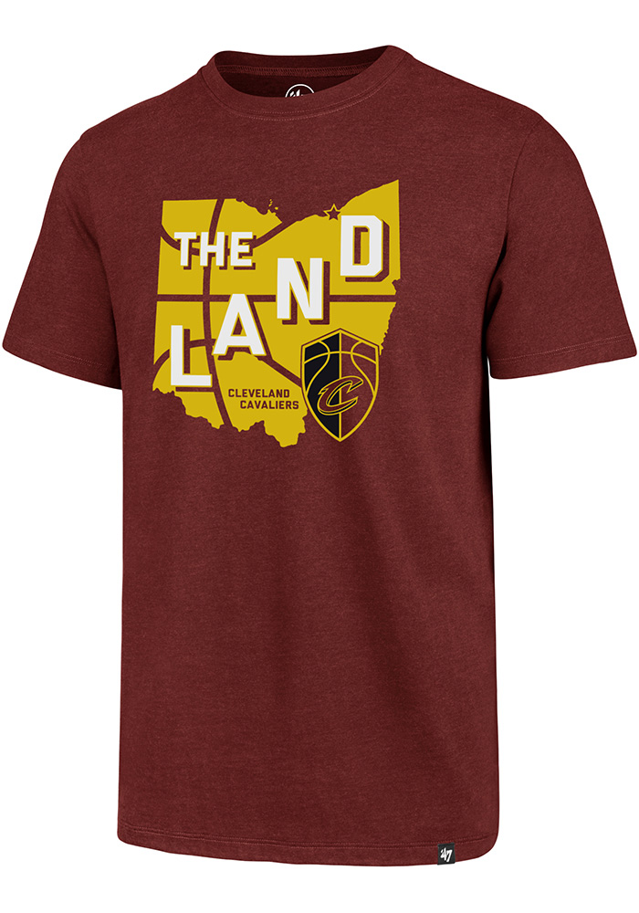'47 Cleveland Cavaliers Mens Maroon Regional Club Short Sleeve T Shirt - Image 1