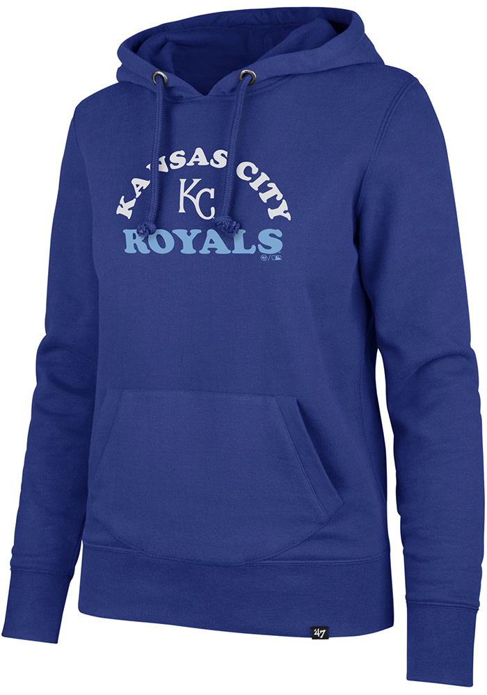 '47 Kansas City Royals Womens Blue Cooper Arch Headline Hooded Sweatshirt - Image 1