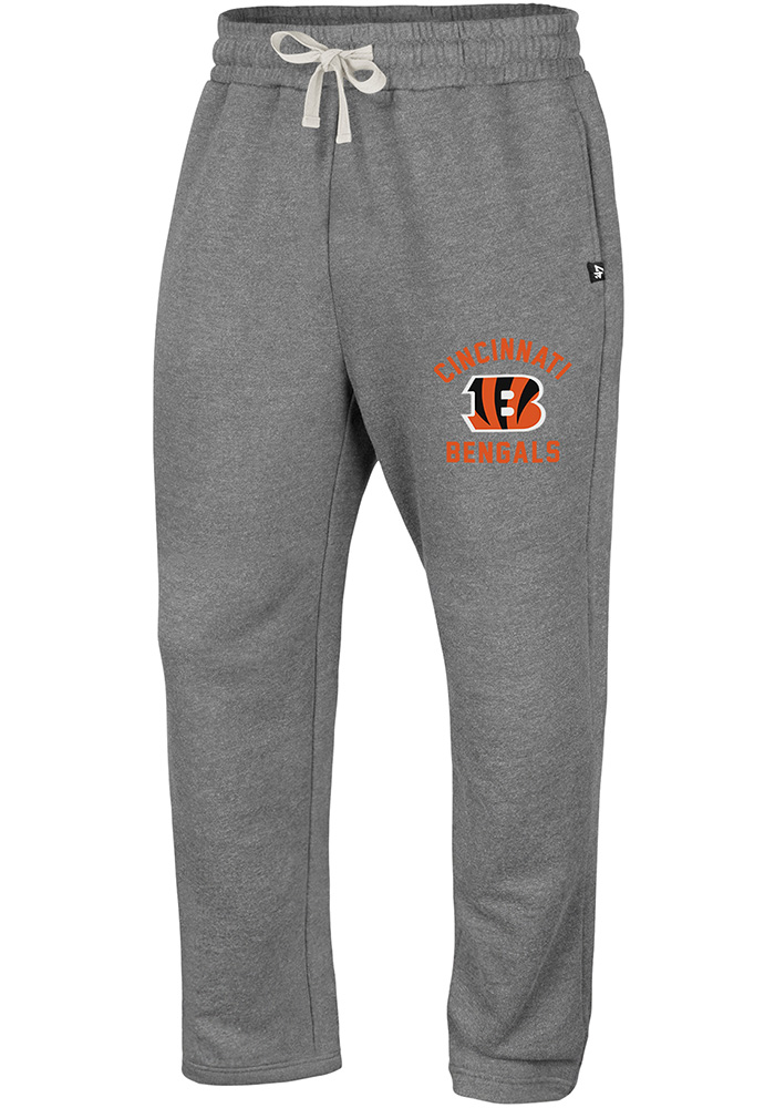 '47 Cincinnati Bengals Mens Grey Roll Out Fashion Sweatpants - Image 1