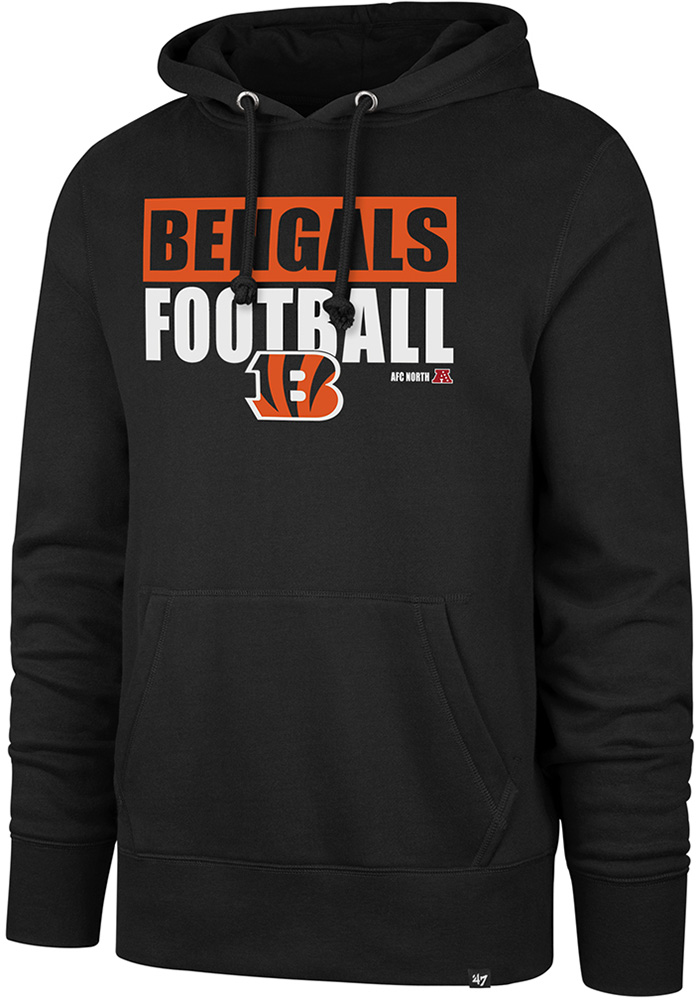 c7f1ec79b  47 Cincinnati Bengals Black Block Out Hoodie
