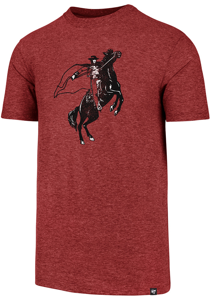 47 Texas Tech Red Raiders Red Throwback Match Short Sleeve Fashion T Shirt - Image 1