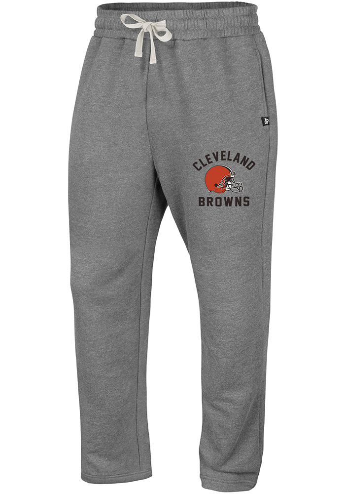 '47 Cleveland Browns Mens Grey Roll Out Fashion Sweatpants - Image 1