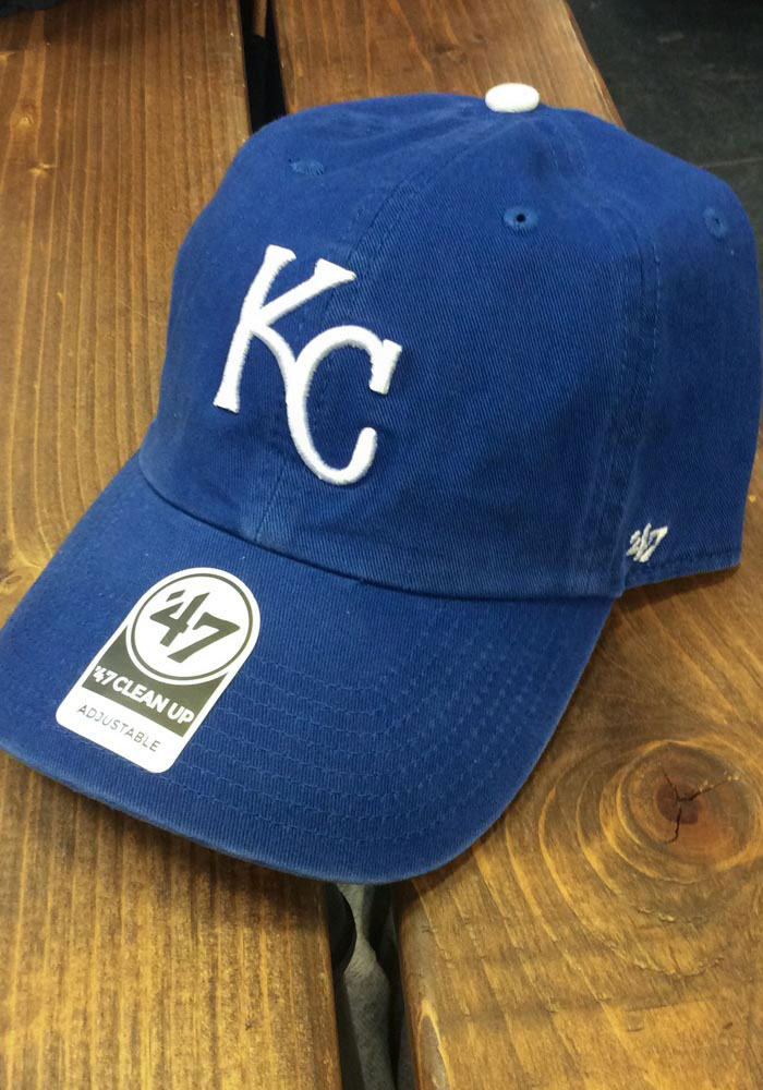 '47 Kansas City Royals Home Clean Up Adjustable Hat - Blue - Image 2