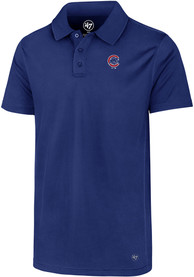 47 Chicago Cubs Blue Ace Short Sleeve Polo Shirt