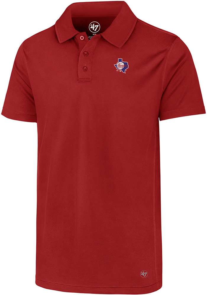 47 Texas Rangers Mens Red Ace Short Sleeve Polo - Image 1
