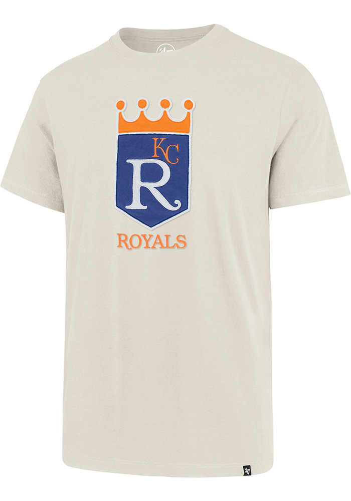 47 Kansas City Royals White Knockout Fieldhouse Short Sleeve Fashion T Shirt - Image 1
