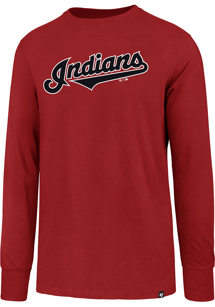 47 Cleveland Indians Red Super Rival Long Sleeve T Shirt - Image 1