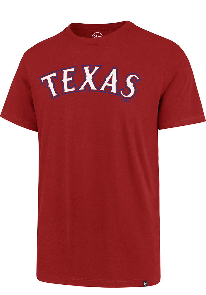 47 Texas Rangers Red Super Rival Short Sleeve T Shirt - Image 1