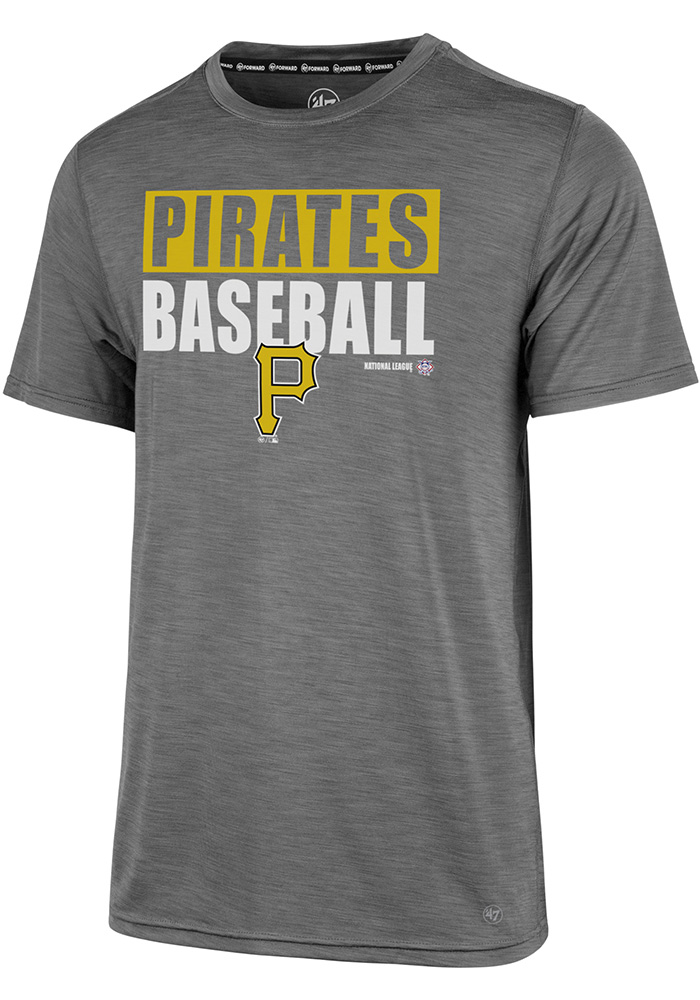 '47 Pittsburgh Pirates Mens Grey Microlite Shade Tee