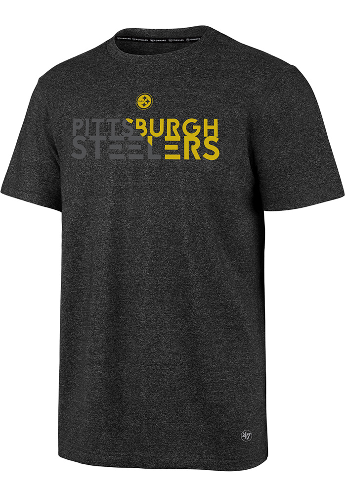 47 Pittsburgh Steelers Black Slash Short Sleeve T Shirt - Image 1