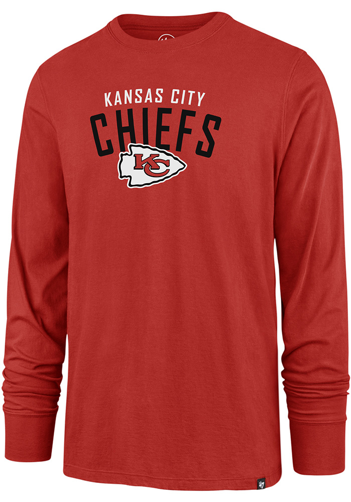 47 Kansas City Chiefs Red Outrush Long Sleeve T Shirt - Image 1