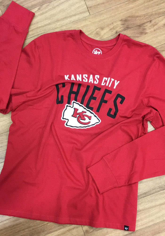 47 Kansas City Chiefs Red Outrush Long Sleeve T Shirt - Image 2
