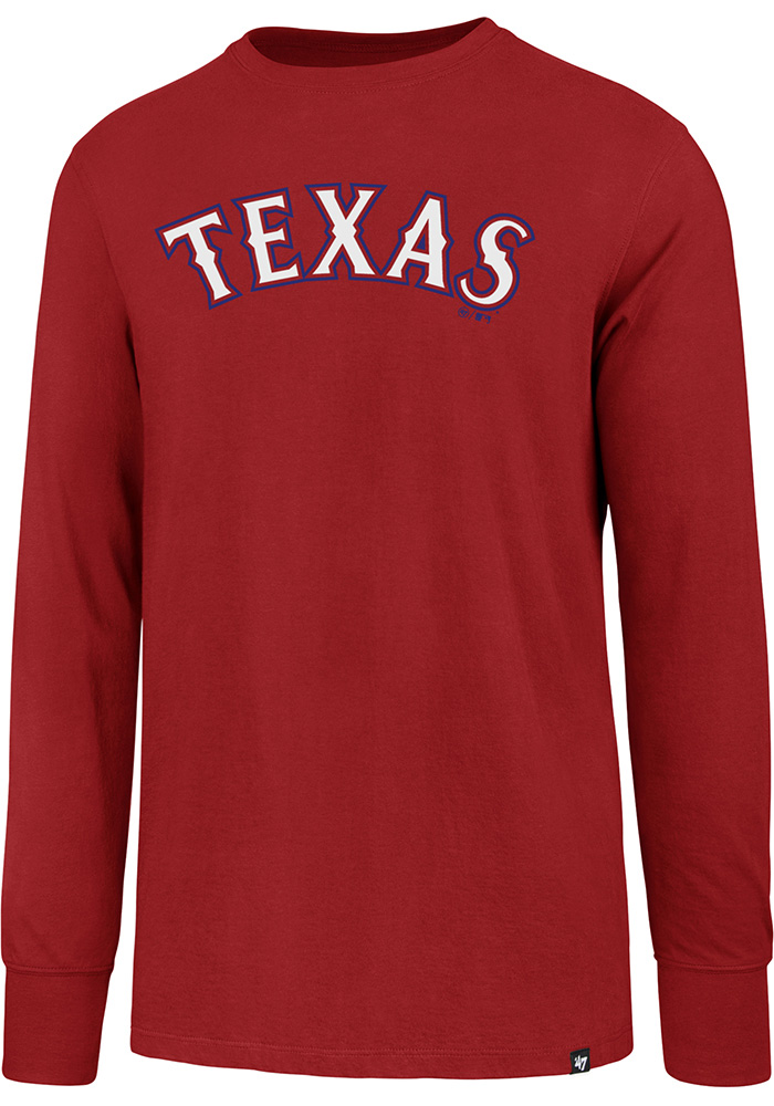 47 Texas Rangers Red Super Rival Long Sleeve T Shirt - Image 1