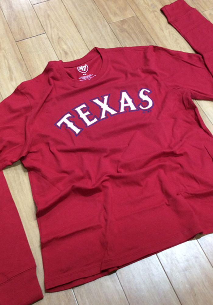 47 Texas Rangers Red Super Rival Long Sleeve T Shirt - Image 2