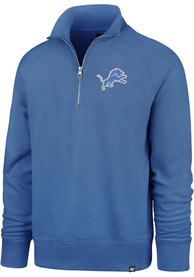 47 Detroit Lions Blue Headline 1/4 Zip Fashion Pullover