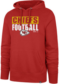 47 Kansas City Chiefs Red Block Out Hoodie