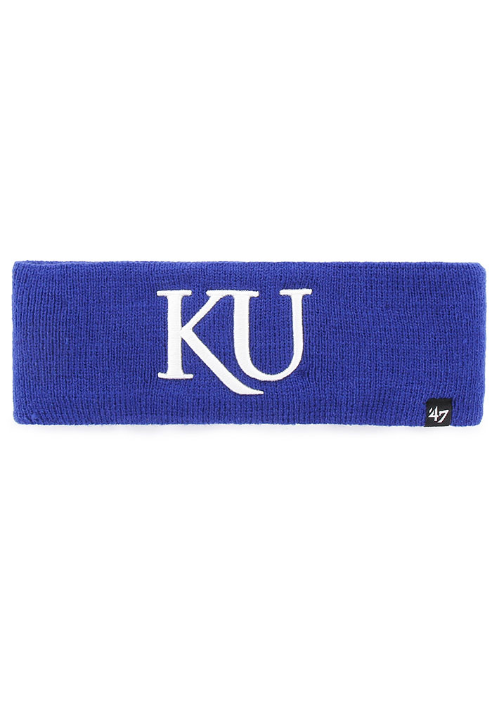 47 Kansas Jayhawks Blue Axial Headband Mens Knit Hat - Image 1