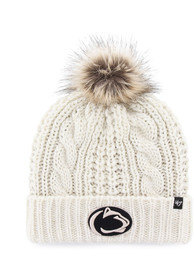 '47 Penn State Nittany Lions Womens White Meeko Cuff Knit Knit Hat