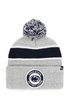 47 Penn State Nittany Lions Grey Noreaster Cuff Knit Knit Hat 2ea78fef175