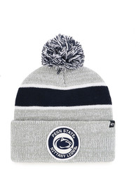 47 Penn State Nittany Lions Grey Noreaster Cuff Knit Knit Hat