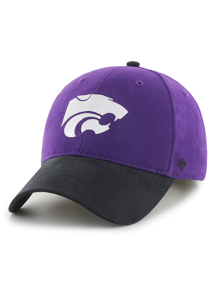 '47 K-State Wildcats Purple Short Stack MVP Youth Adjustable Hat - Image 1